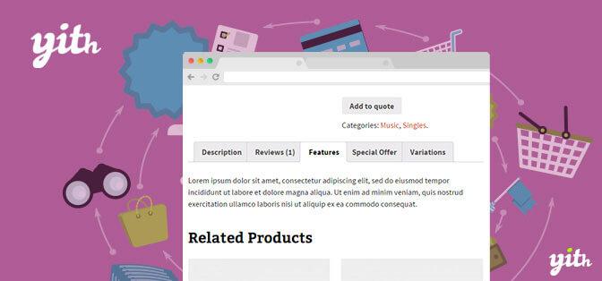 افزونه اضافه کردن تب ووکامرس | YITH WooCommerce Tab Manager premium
