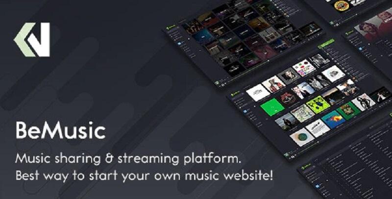 اسکریپت پخش و استریم موسیقی | BeMusic