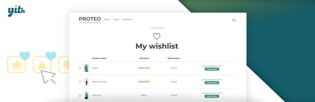 افزونه لیست علاقه مندی ووکامرس   YITH WooCommerce Wishlist premium