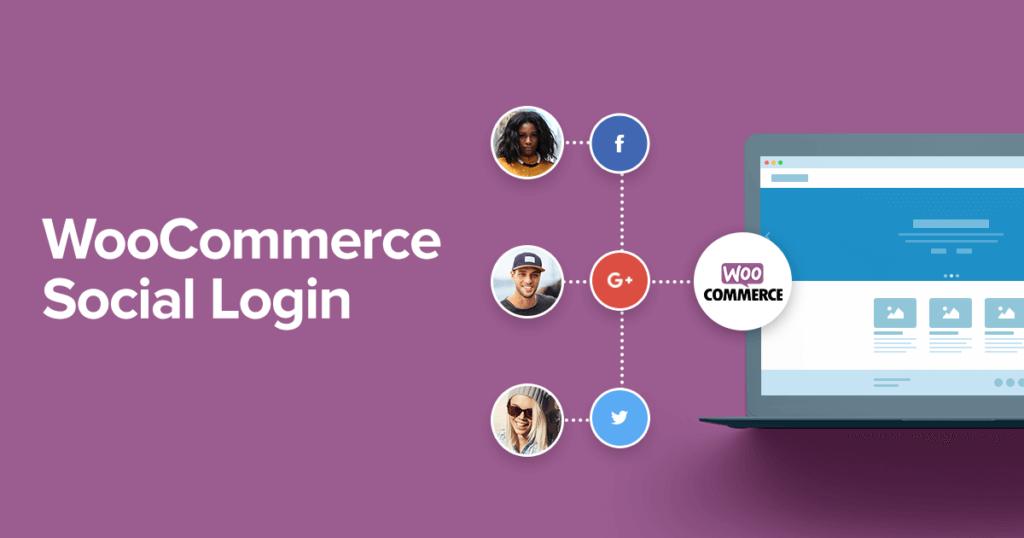 افزونه ورود به ووکامرس از طریق شبکه های اجتماعی   WooCommerce Social Login