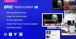 افزونه Epic News Elements  | افزودنی المنتور و ویژوال کامپوزر