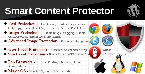 افزونه جلوگیری کپی متن و تصاویر حرفه ای | Smart Content Protector pro