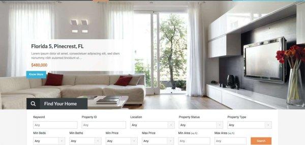 قالب املاک ریل هوم | Real Homes