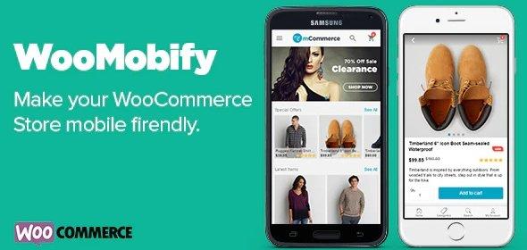 افزونه وو موبی فای | woomobify قالب نسخه موبایل ووکامرس