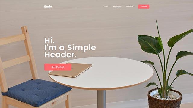 basic template 1 - Basic Website