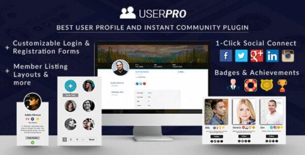 افزونه پروفایل حرفه ای وردپرس یوزر پرو | UserPro